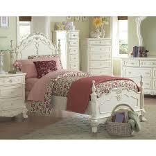 shop homelegance cinderella ecru twin bed frame at lowes com