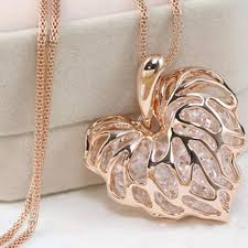 long crystal pendant necklace images Filigree heart shaped crystal pendant necklace my gear place jpg