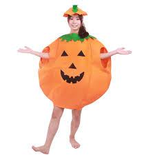 pumpkin costume 2 pieces set costumes for women men pumpkin