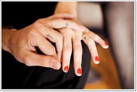 finger wedding ring tattoos ring
