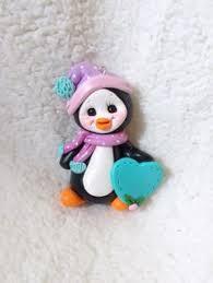 sculpey clay tutorial penguin ornaments figurer