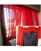 Red Scarf Valance Sheer Valance Curtains Curtains Curtain Topper Patterns Designs