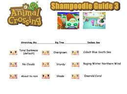 acnl hairstyle guide animal crossing hair color guide printable coloring image