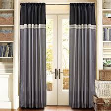 decor dark grommet curtains with dark l shaped curtain rod and