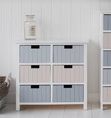 beach free standing bathroom cabinet furniture with 6 drawers