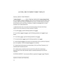 last will and testament form how to write a last will and