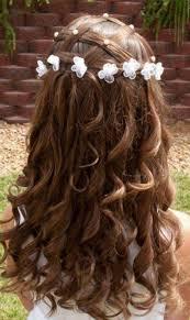 cute hairstyles for first communion coiffure petite fille pour mariage 30 filles d honneur superbes