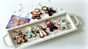 make frozen characters as gingerbread men this holiday season