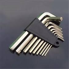 hex key set 9pcs set hex key set durable chrome vanadium ball ended allen key