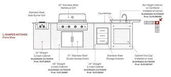 outdoor kitchen floor plans outdoor kitchen construction plans design 350x299 sinulog us