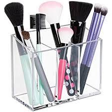 Hair And Makeup Organizer Amazon Com Interdesign Clarity Cosmetics Organizer Trio Cup For
