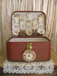 Country Shabby Chic Wedding by Vintage Suitcase Wedding Card Holder Shabby Chic Wedding Rustic