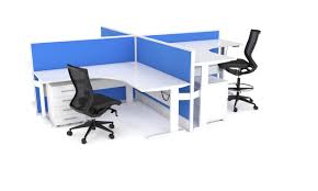 office workstation 4 way pods available from buydirectonline com