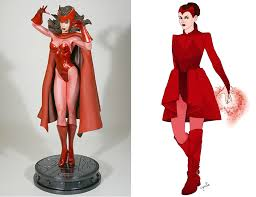 Marvel Female Halloween Costumes Scarlet Witch Ladies Superhero Costumes Scarlet Witch Scarlet