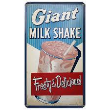 giant milkshake ice cream parlor sign 8 x 14 ice cream parlor