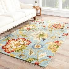 santiago handmade floral light blue multicolor area rug 8 u0027 x 10