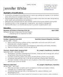 critical care nurse resume u2013 okurgezer co