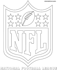 nfl logos coloring pages coloring pages to download and print
