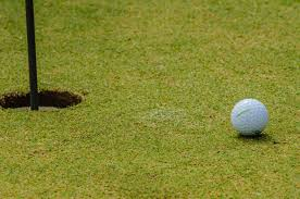 golf ball next to hole free stock photo public domain pictures