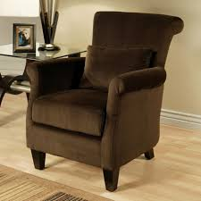 Ergonomic Arm Chair Living Room Cozy Dark Brown Armchair Design With Comfortable Back