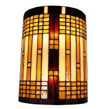 Overstock Wall Sconces Amora Lighting Tiffany Style 2 Light Geometric Wall Sconce Free