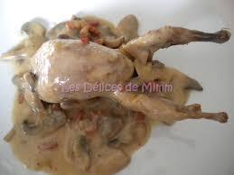 cuisiner caille cailles au cidre lardons et chignons les délices de mimm