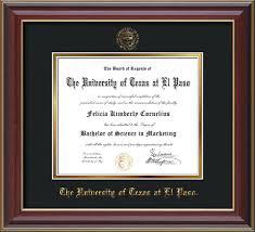 diploma frame of at el paso diploma frames custom utep