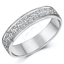 wedding cut rings images 9ct white gold ring diamond cut flat wedding ring band 4mm 5mm jpg