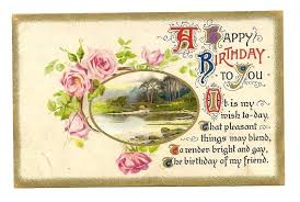 happy birthday postcards lovely vintage happy birthday greetings postcard sold