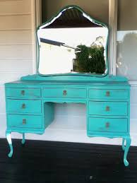 shabby chic 7 drawer dressing table with mirror in distressed