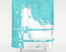 Horse Bathroom Accessories by Horse Shower Curtain Personalized Bathroom Decor Black And