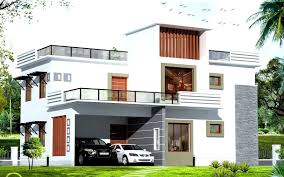modern house design plan white exterior house color schemes with modern garage design plans
