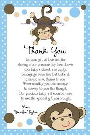 baby shower thank you baby shower thank you card thank you for ba shower gift top 25