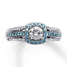 Blue Diamond Wedding Rings by Light Blue Diamond Engagement Rings