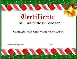11 free sample christmas gift certificate templates u2013 printable