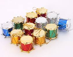 shop colorful drum ornament set of 12