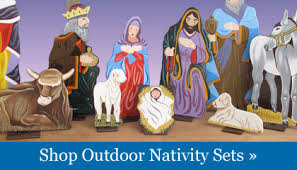 outdoor nativity set nativity and decor christmasnightinc
