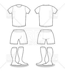 sports clothing soccer outline vector clipart image 132535