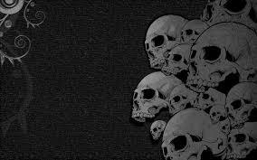 skulls black heavy metal wallpaper 1680x1050 299127 wallpaperup