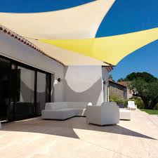 outdoor awning fabric jinguan net 16 x16 beige sun shade sail canopy permeable uv block