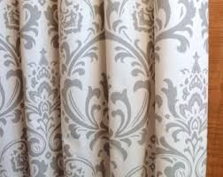 Curtains White And Grey Curtains Window Treatments Etsy Il