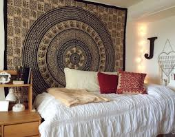 Tapestry On Bedroom Wall Black And White Indian Elephant Tapestry Wall Hanging