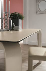 Contemporary Dining Room Tables Contemporary Dining Table Glass Polyurethane Tempered Glass