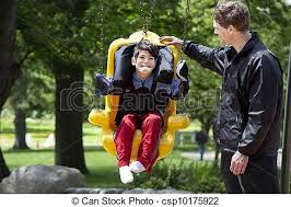 handicap swing gar礑on besoins pousser p礙re handicap礬 balan礑oire photo de