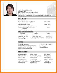 Sample Resume For Photographer 3 Sample Resume Philippines Sales Resumed