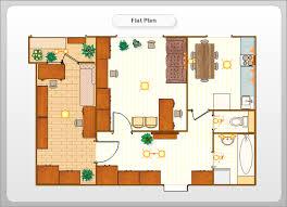 Floor Plans For Flats Conceptdraw Samples Floor Plan And Landscape Design