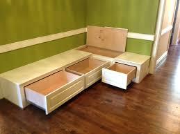 banquette corner bench seat with 36 storage by prairiewoodworking