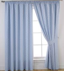 Light Pink Blackout Curtains Blue Striped Printed Blackout Curtains For Living Room Luxury