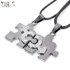 s day pendants ziris new clothing fashion puzzle pendant necklace