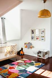 Modern Nursery Rug Rooms A Patchwork Of Colors For The Rug Works Well In Any